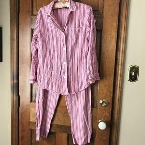 Lauren Ralph Lauren Pink Striped Menswear PJs Med